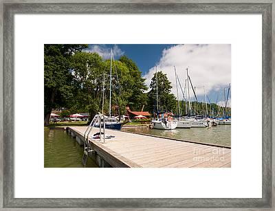 Masuria Lake Harbor Boardwalk Framed Print