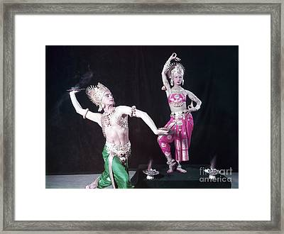 Mata And Hari, Comedic Dancers Framed Print