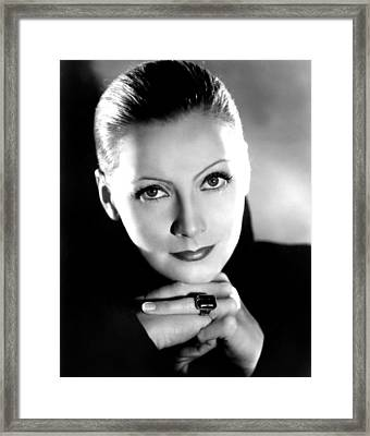 Mata Hari, Greta Garbo, Portrait Framed Print by Everett