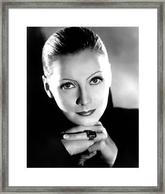 Mata Hari, Greta Garbo, Portrait Framed Print by Everett