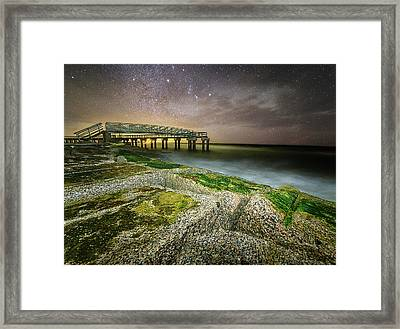 Matagorda Jetties Framed Print by Matt Smith
