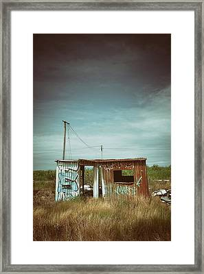 Metallic Container Shed  Framed Print by Carlos Caetano