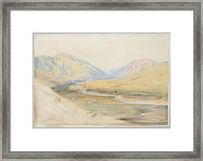 Mataura Gorge, Southland, 1866 , By Nicholas Chevalier. Framed Print