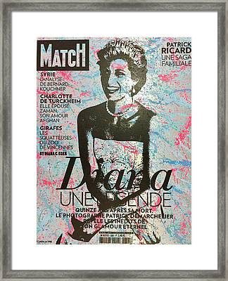 Match - Diana Framed Print