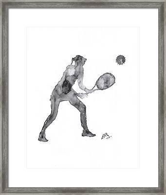Match Point Framed Print by Edwin Alverio