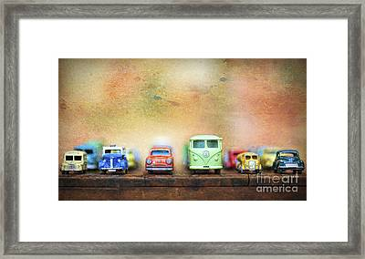 Matchbox Toys Framed Print by Tim Gainey