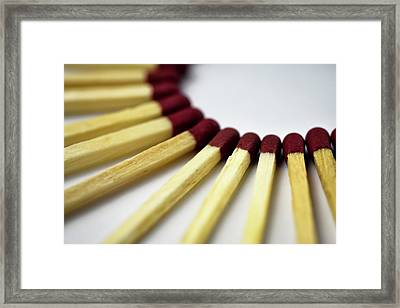 Matches Spread Over Semi Circle Framed Print