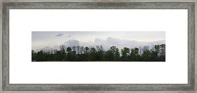 Matching Sky Lines Framed Print by Ed Smith