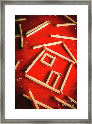 Matchstick Houses Framed Print by Jorgo Photography - Wall Art Gallery