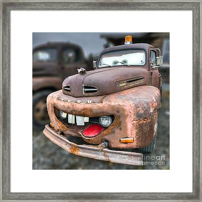 Mater From Cars 2 Ford Truck Framed Print by Dustin K Ryan
