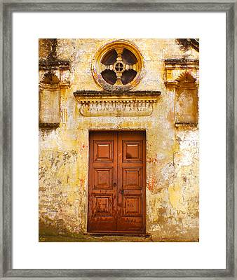 Matera Church Door Framed Print
