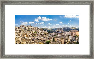 Matera Framed Print by JR Photography
