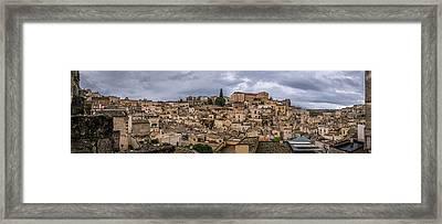 Matera Sassi - Basilicata, Italy - Cityscape Photography Framed Print by Giuseppe Milo