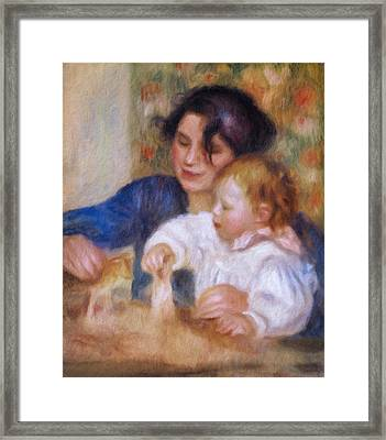 Maternal Love Framed Print by Georgiana Romanovna