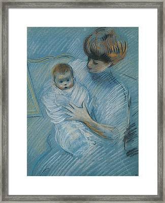Maternity Framed Print by Paul Cesar Helleu