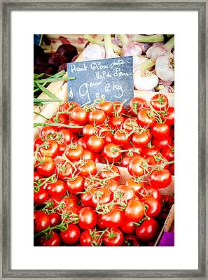 Framed Print featuring the photograph 'maters by Jason Smith