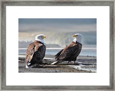 Mates For Life Framed Print by Dyle   Warren