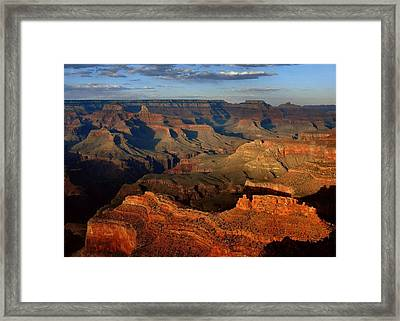 Mather Point - Grand Canyon Framed Print by Stephen  Vecchiotti