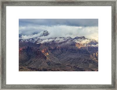 Framed Print featuring the photograph Mather Point View by Beverly Parks