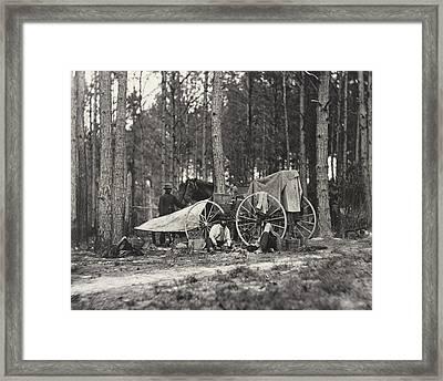 Mathew Brady Wagon Framed Print by Underwood Archives
