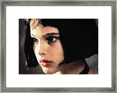 Framed Print featuring the painting Mathilda by Taylan Apukovska