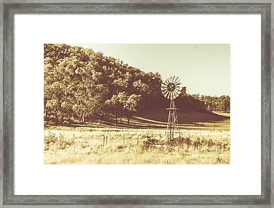 Mathinna Farmyard Field Framed Print by Jorgo Photography - Wall Art Gallery