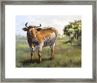 On The Florida Prairie Matilda Framed Print
