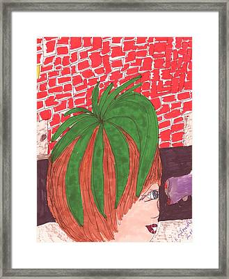 Matilda's Cousin's Tomato Head Look Framed Print