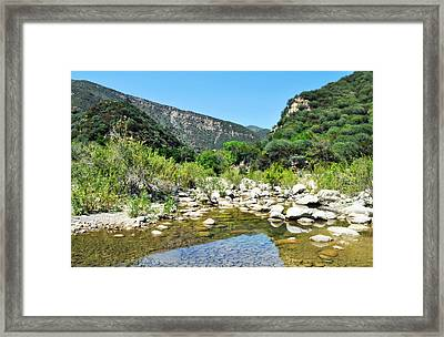 Framed Print featuring the photograph Matilija Hot Springs by Kyle Hanson