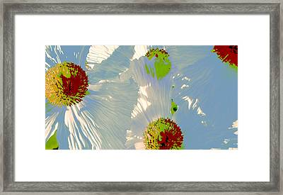 Framed Print featuring the photograph Matilija Poppies Pop Art by Ben and Raisa Gertsberg