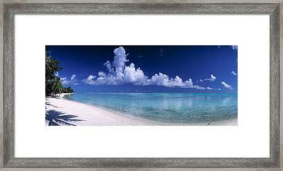 Matira Beach Bora Bora Polynesia Framed Print by Panoramic Images