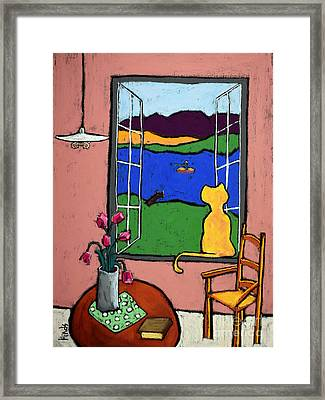Matisse's Cat Framed Print