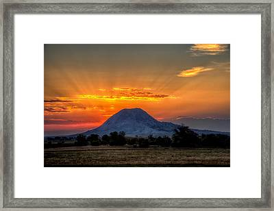 Mato Paha, The Sacred Mountain Framed Print