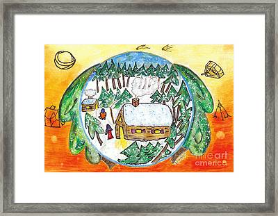 Matrice Et Abris / Womb And Shelters Framed Print by Dominique Fortier