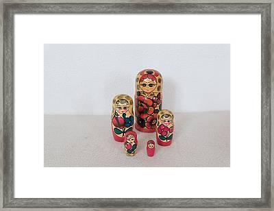 Matrioshka Dolls. Framed Print by Benny Blitzblau