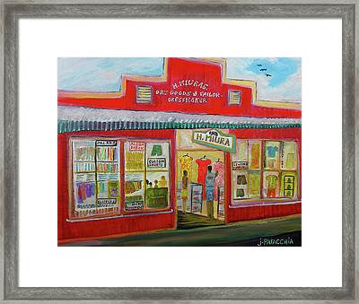 H. Miura Store, Haleiwa Hawaii Framed Print by Julie Patacchia