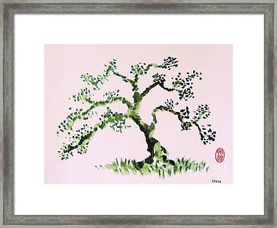 Framed Print featuring the painting Matsushima Ume No Ki  by Roberto Prusso