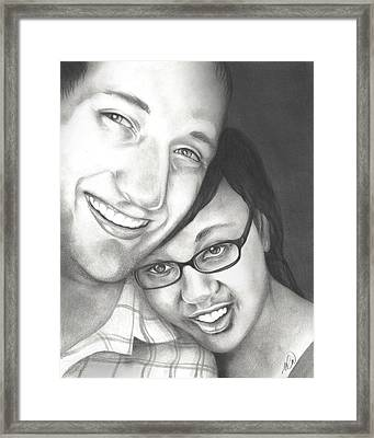 Matt And Jasmine Framed Print by AC Williams