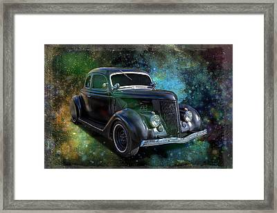 Matt Black Coupe Framed Print by Keith Hawley