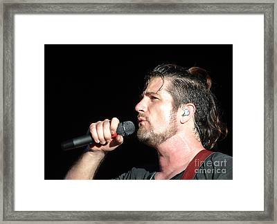 Matt Nathanson Framed Print by Cindy Manero