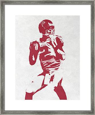 Matt Ryan Atlanta Falcons Pixel Art 2 Framed Print