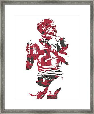 Matt Ryan Atlanta Falcons Pixel Art 7 Framed Print