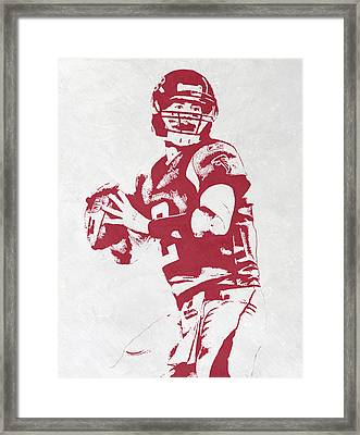 Matt Ryan Atlanta Falcons Pixel Art Framed Print by Joe Hamilton