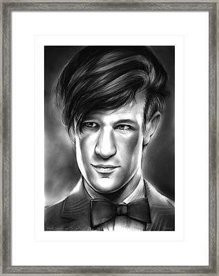 Matt Smith Framed Print by Greg Joens