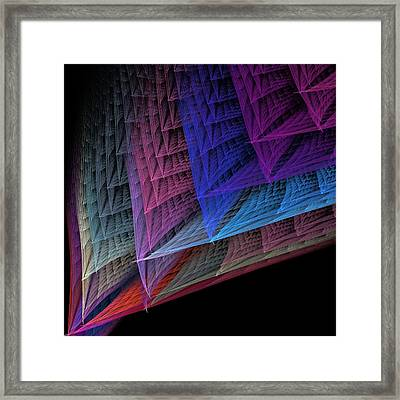 Matte Weave In Pastel Framed Print