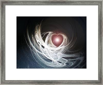 Matter Of The Heart Framed Print