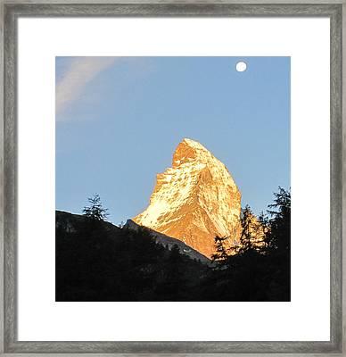 Matterhorn Alpenglow Framed Print by Karina Taugwalder