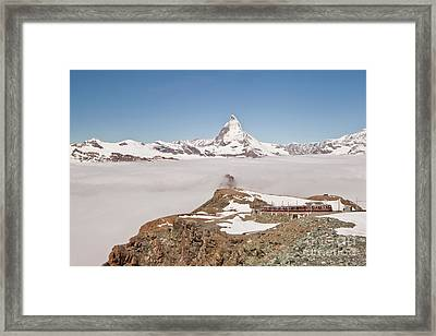 Framed Print featuring the photograph Matterhorn And Fog by Christine Amstutz