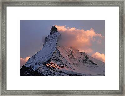 Matterhorn At Dusk Framed Print