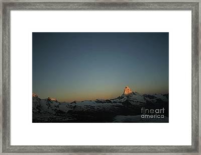 Matterhorn At Sunrise Framed Print by Christine Amstutz